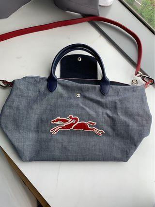 Longchamp denim crossbody bag