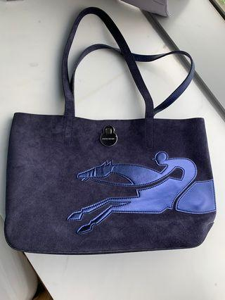 Longchamp Suede Tote Bag