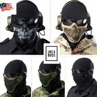 Steel Mesh Half Face Mask Topeng Muka Metal