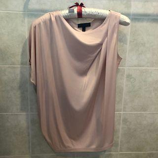 Champagne pink asymmetric top