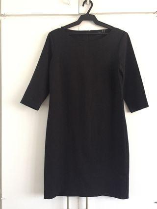 ASOS Black 3/4 Sleeves Mini Dress Shift Dress LBD