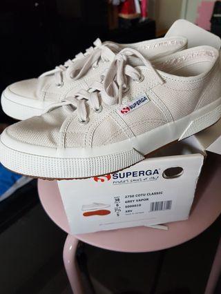 Authentic Superga Light Grey size 38
