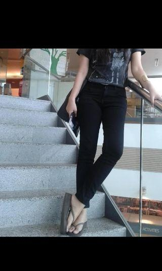 Authentic Topshop Moto Black Skinny Jeans High Waisted