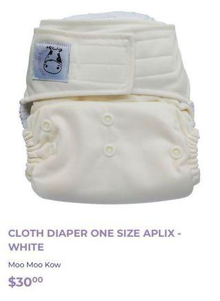 Brand New Moo Moo Kow Cloth Diaper, Inserts & Liners
