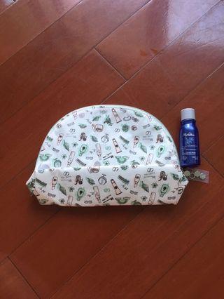 [Melvita] 化妝袋 + 有機百合美白精華爽膚水(28ml)