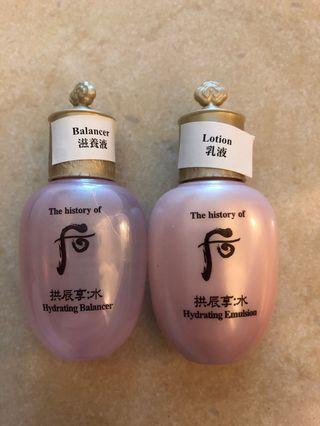 The History Of Whoo 后 拱辰享:水 滋養液(爽膚水)+ 乳液
