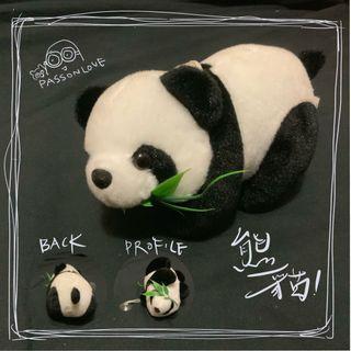 超萌𡁻竹葉 PANDA 熊貓毛公仔 掛飾 家居 熊貓愛好者