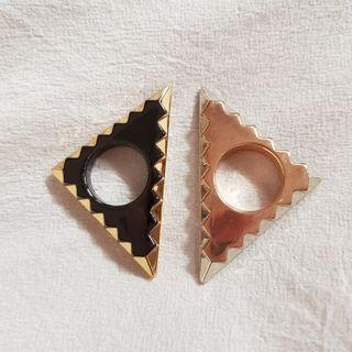 Authentic House of Harlow Triangle Rings sz6