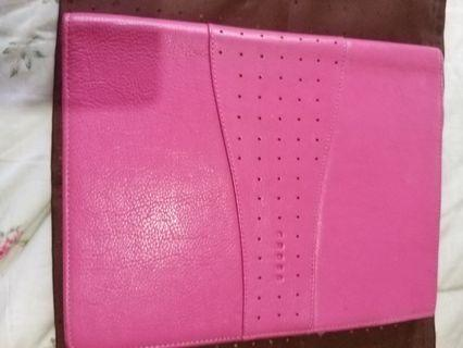Preloved Cross Pink Leather Binder for B5 size