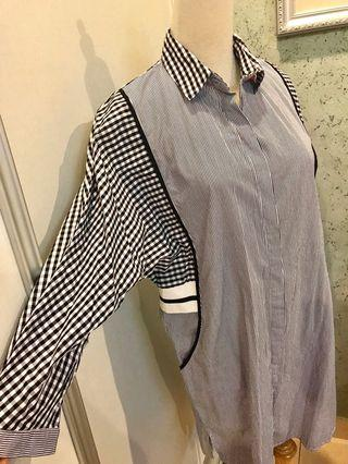 CHequered long blouse / dress