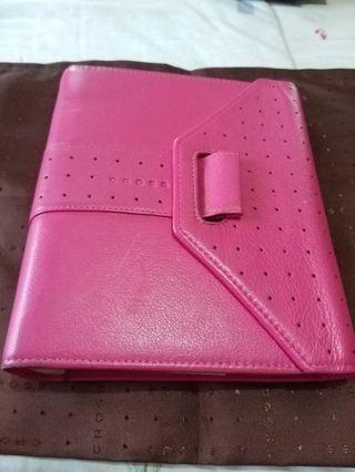 Preloved Cross Pink Leather Agenda with Ring Binder