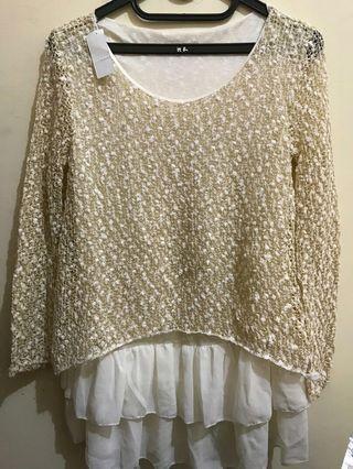 Gold long blouse