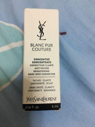 $30/5ml/YSL Blanc Pur Couture concentre concentrate 淨透研亮精華素