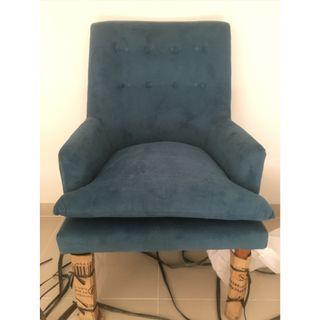 Sofa cantik 1 seater bahan bludru