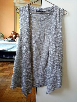 Sleeveless grey vest