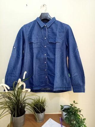 Kemeja demin jeans Point One