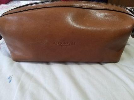 Preloved Coach Leather Tan Pouch Good Condition