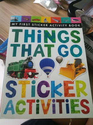 🚚 (Brand new) my first sticker activity book: things that go