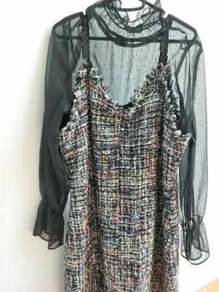 Chanel style dress + top