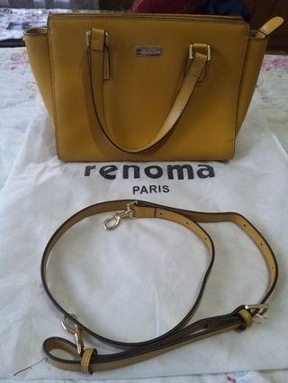 Preloved Renoma Mustard Faux Leather Sling Bag