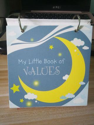 🚚 (Brand new) My little book of values table top flip chart