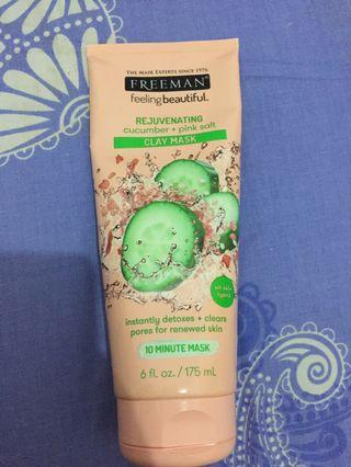 Freeman Clay Mask Cucumber + Pink Salt