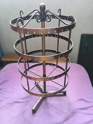 copper display for earrings 銅製飾物耳環架
