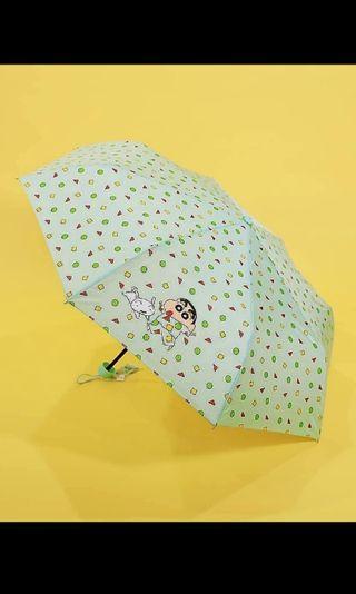 韓國 蠟筆小新雨傘 縮骨遮 雨遮