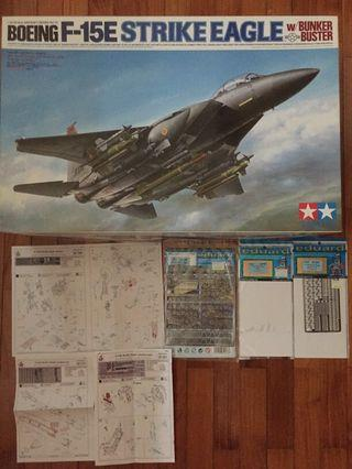 🚚 Tamiya Boeing F-15E Strike Eagle with add-ons (please see 2nd to 4th pic.)