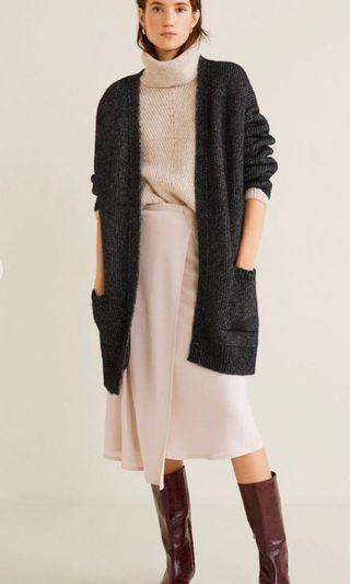 Brand New Mango Knit Long Cardigan