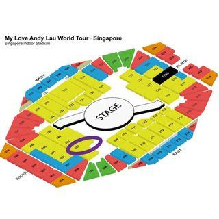 🚚 Andy Lau Concert Pairs of CAT1 Tickets - 25 Sep (Wed)