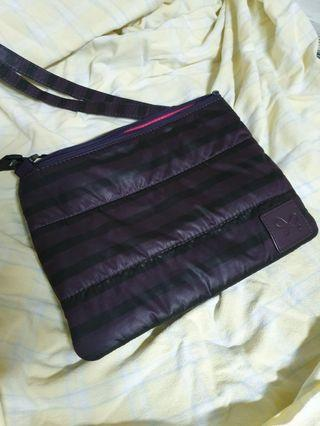 🚚 cipu紫條紋雙層包