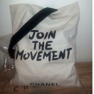 """Join The Movement"" Linen Chanel Eco Bag VIP Gift."