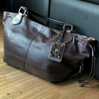 Authentic Burberry Blue Label Brown Leather Bag