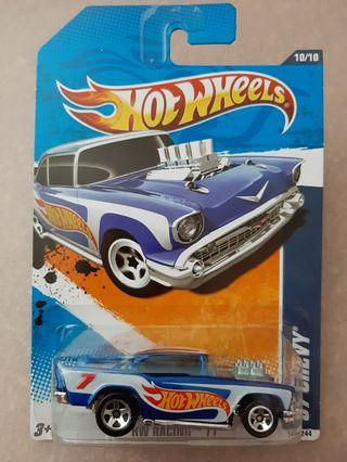 Hotwheels 1957 Chevy HW Racing 2010 Released 160/244