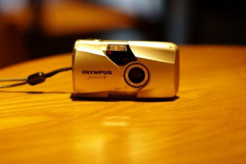 Olympus mju II 2 film camera