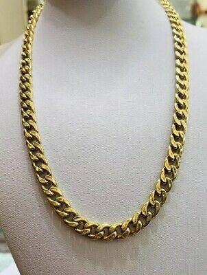 14k solid gold cuban link chain