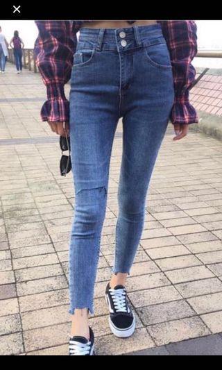 High waisted jeans 彈性高腰牛仔褲
