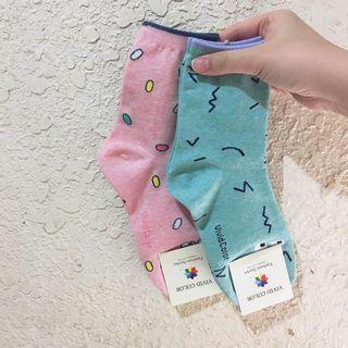 🚚 VIVID COLOR 韓國逗趣眼睛系列造型襪 2入