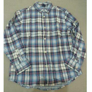 (((降價!!!)))GAP Kids-雙格紋長袖襯衫(BL)
