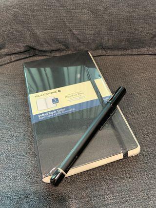 Moleskin Ellipse Pen plus New notebook
