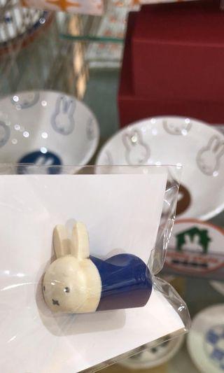Miffy米菲兔交叉兔日本貨木制筷子座迷你小擺設