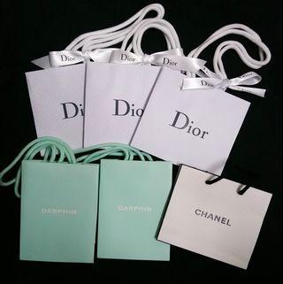 Dior/Darphin/Chanel 紙袋