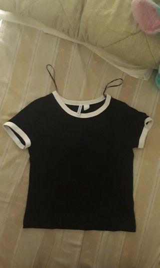 Black t-shirt by H&M