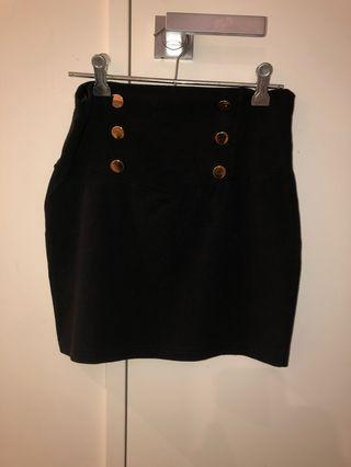 Tight navy miniskirt