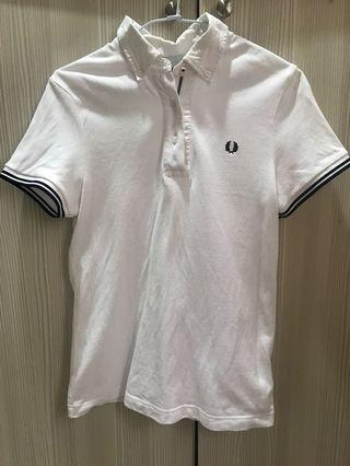 Fred Perry 白色 polo shirt
