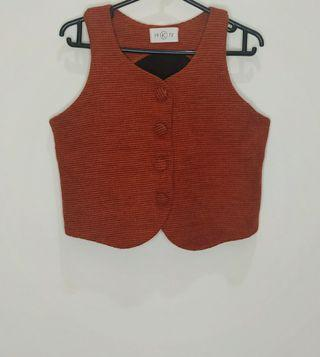 Tweed Button Top