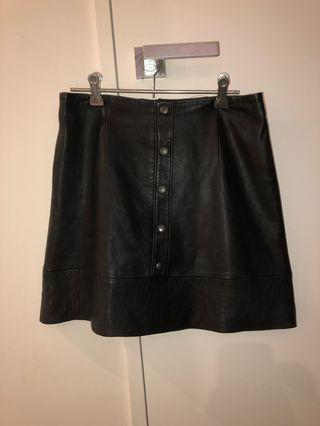 Kookai black leather skirt