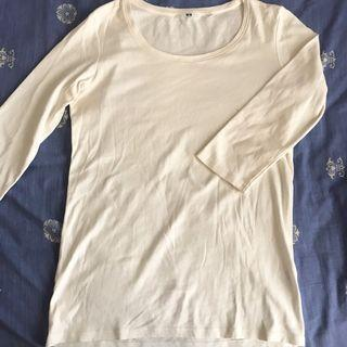 White Uniqlo Long Sleeve