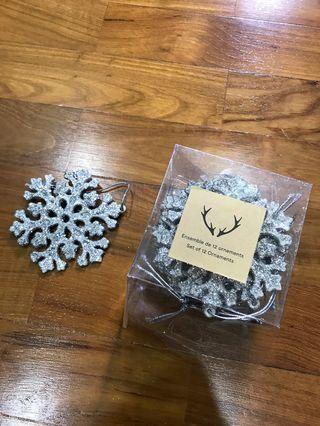 🚚 Snowflakes Christmas tree ornaments